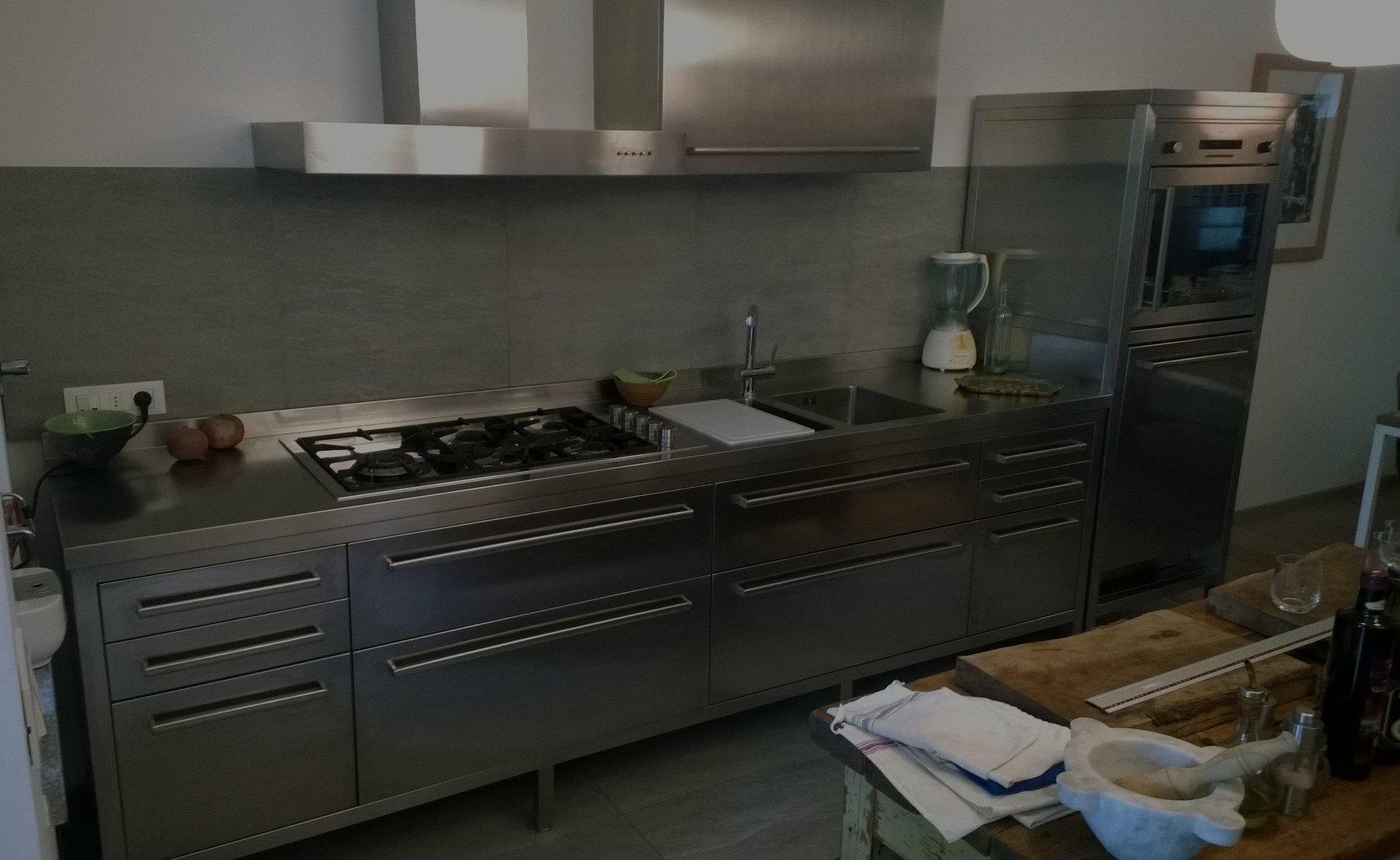 Cucine In Acciaio Componibili.Cucine Acciaio Inox Borlina Acciaio