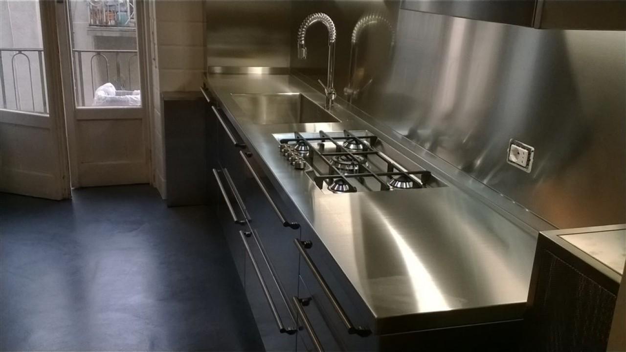 Cucina acciaio inox | Progetti Borlina Acciaio
