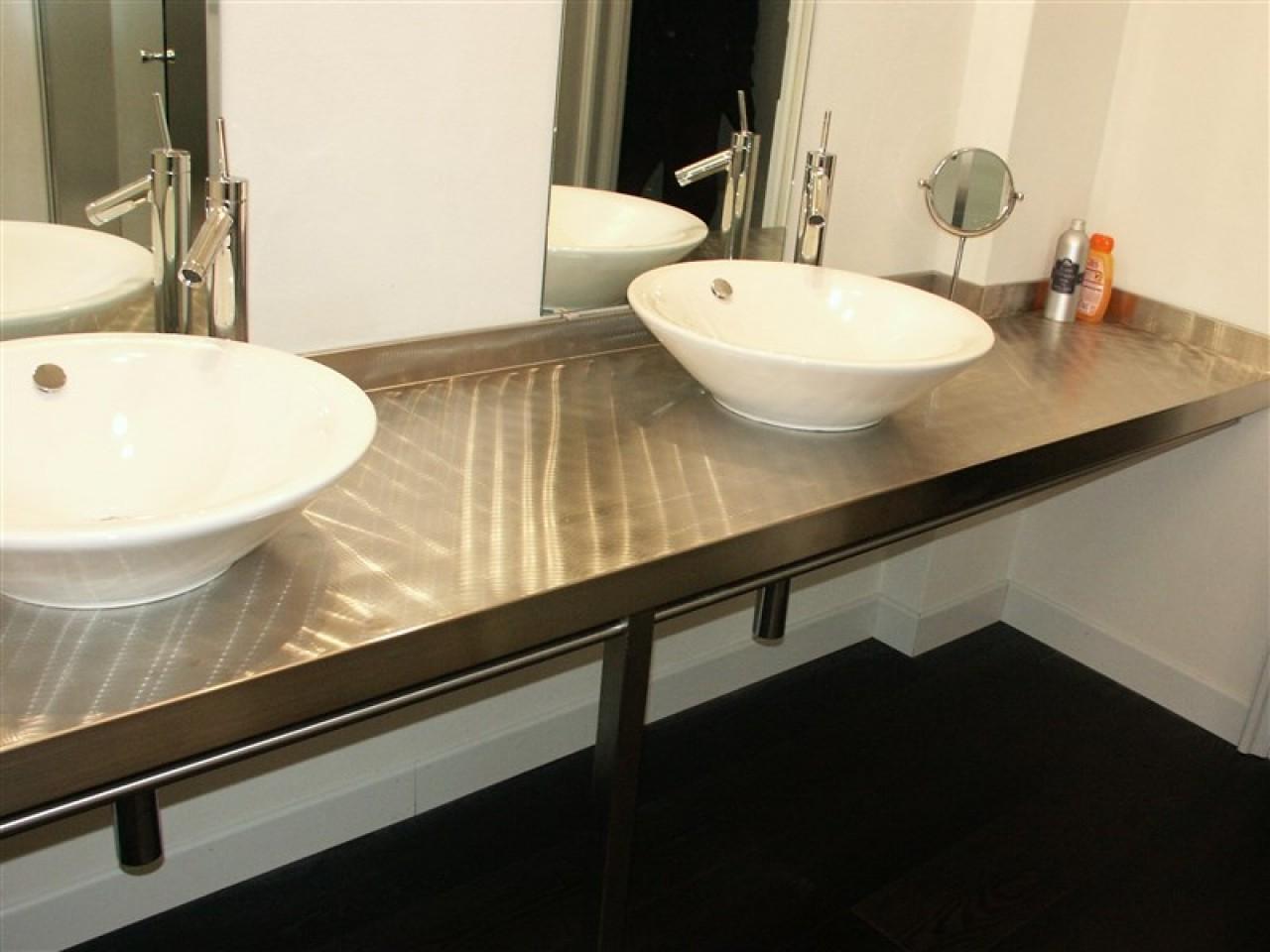 Arredo bagno acciaio spazzolato progetti borlina acciaio